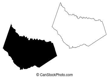 Barrow County, Georgia (U.S. county, United States of America, USA, U.S., US) map vector illustration, scribble sketch Barrow map
