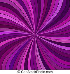 barsten, paarse , abstract, -, vector, ontwerp, streep, achtergrond, kolken, gebogen, psychedelic