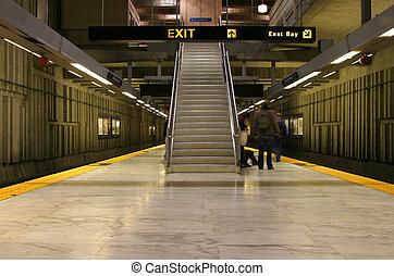 Bart Station 1 - An underground Bay Area Rapid Transit...