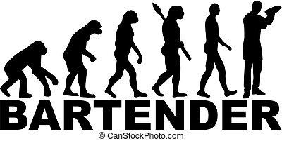 Bartender evolution barman - Evolution of a bartender with...