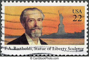 bartholdi, 1985, アメリカ, 切手, 1985:, auguste, -, frederic, ...