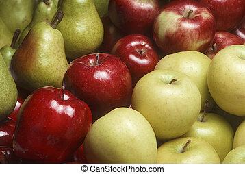 bartlet, pommes, poires, variété