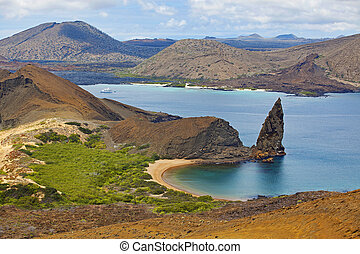 Bartolome Island Galapagos - View of the pinnacle on...