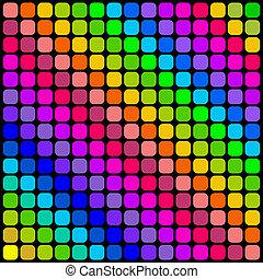 barva, čtverhran pokrýt dladicemi, pattern.