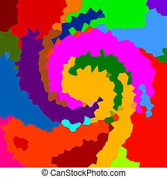 barva, abstraktní, grafické pozadí