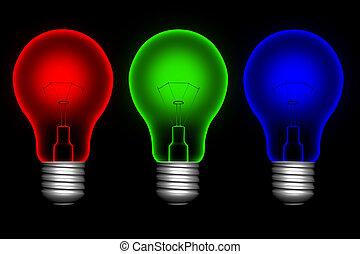 barva, lightbulbs
