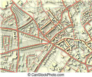 barva, město, mapa