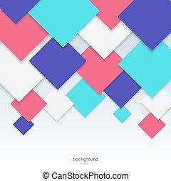 barva, model, geometrický, grafické pozadí, rhombs