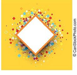 barva, rhombs., grafické pozadí