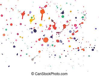barva vodová, abstraktní