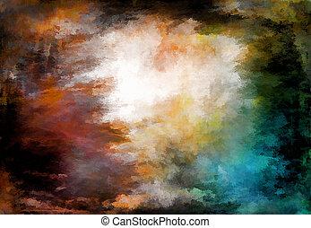 barva vodová, grafické pozadí