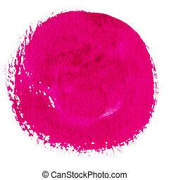 barva vodová, kruh