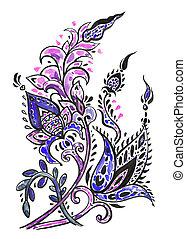 barva vodová, květinový charakter