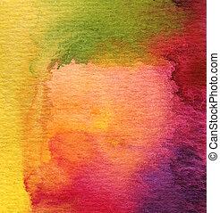 barva vodová, namalovaný, abstraktní, grafické pozadí