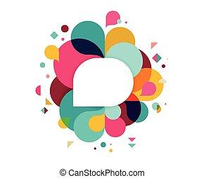 barvitý, abstraktní, grafické pozadí, plakát, s, kaluž, duha, barva, vektor, pojem, design