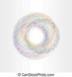 barvitý, grafické pozadí, kruh, s, čtverhran, duha, vektor