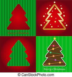 barvitý, ilustrace, s, vánoce, kopyto., vector.