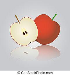 barvitý, jablko, eps10