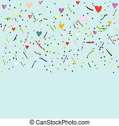 barvitý, konfety, dále, oplzlý grafické pozadí