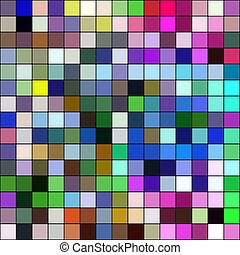 barvitý, mozaika, čtverhran pokrýt dladicemi, ilustrace, abstraktní, grafické pozadí.