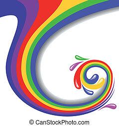barvitý, točit se, vektor, ilustrace