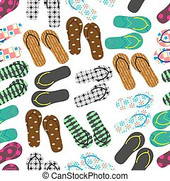 barvitý, variace, o, shodit kymácet se, léto, obuv, seamless, model, eps10
