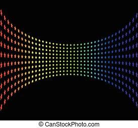 barvitý, vektor, grafické pozadí