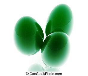 barvitý, velikonoční obalit v rozšlehaných vejcích