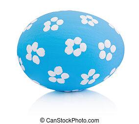 barvitý, velikonoční, osamocený, neposkvrněný, konzervativní, ruční, vejce, grafické pozadí