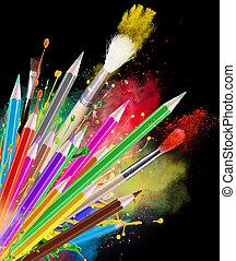 barwa, ołówki