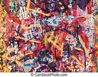 barwiona ściana