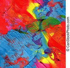 barwiony, abstrakcyjny, akryl, tło