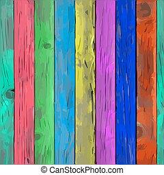 barwiony, drewno, deska, wektor, struktura