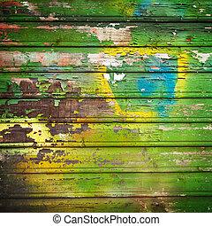 barwiony, drewno, tło