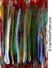 barwiony, płótno, elementy, struktura