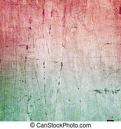 barwiony, płótno, struktura