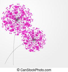 barwny, abstrakcyjny, ilustracja, flowers., wektor, tło