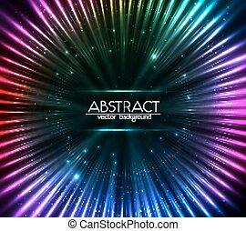 barwny, abstrakcyjny, kosmiczny, światła, tło, lustrzany