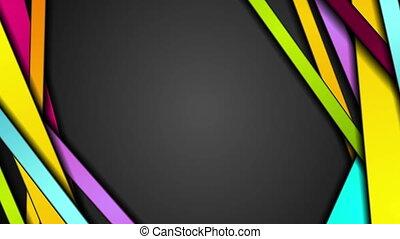 barwny, abstrakcyjny, pasy, ożywienie, video, zbiorowy