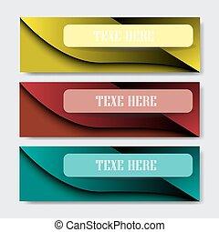 barwny, abstrakcyjny, wektor, projektować, szablon, chorągiew