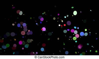 barwny, alfa, confetti, 4k, wybuchy, przeźroczysty, kanał