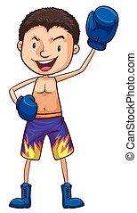barwny, bokser, rysunek