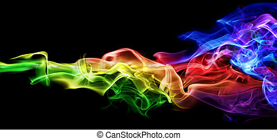 barwny, dym