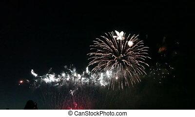 barwny, fajerwerki, celebrowanie