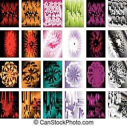 barwny, handlowa karta, szablon