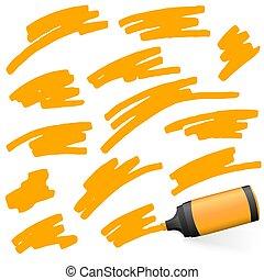 barwny, highlighter, znakowanie