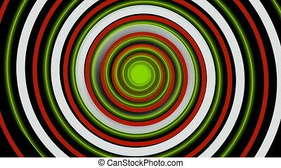barwny, hipnotyczny, spirala