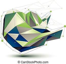 barwny, ilustracja, abstrakcyjny, wektor, perspektywa, technologia, 3d
