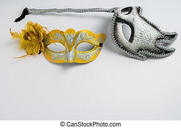 barwny, karnawał, maski