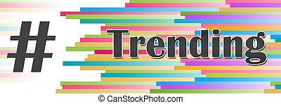 barwny, kwestia, trending, poziomy